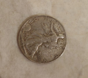Silver Eagle Half Dollar clean