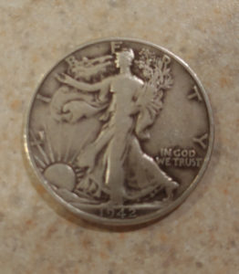 Silver Eagle Half Dollar dirty